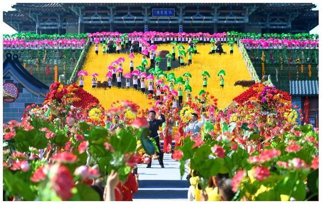 中国农民丰收节丰收歌会在永济鹳雀楼录制 致敬广大农民